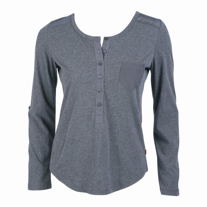popielata bluzka Jackpot z guzikami - z kolekcji jesień-zima