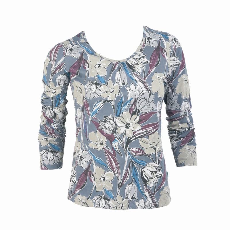 szara bluzka Jackpot we wzory - trendy na jesień-zimę