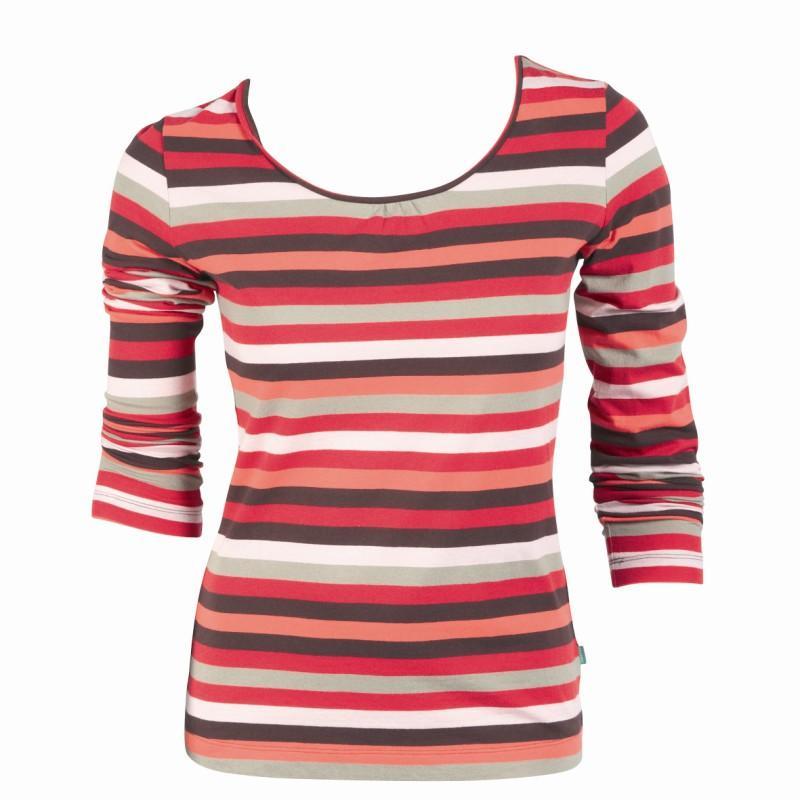 czerwona bluzka Jackpot w paski - z kolekcji jesień-zima