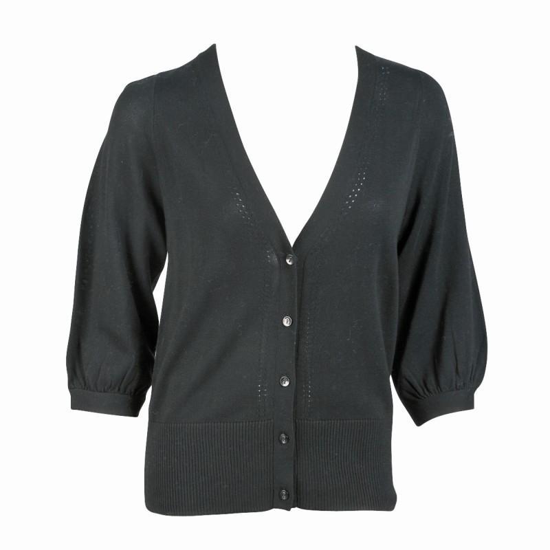 czarny sweter Jackpot rozpinany - z kolekcji jesień-zima