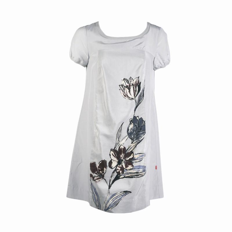 biała sukienka Jackpot z kwiatem - z kolekcji jesień-zima