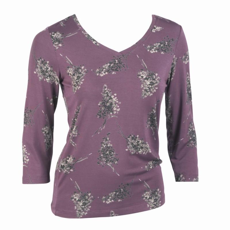 fioletowa bluzka Jackpot we wzory - z kolekcji jesień-zima