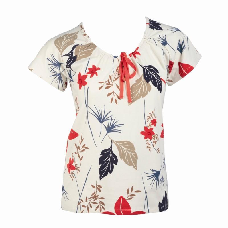 ecru bluzka Jackpot we wzory - jesień/zima