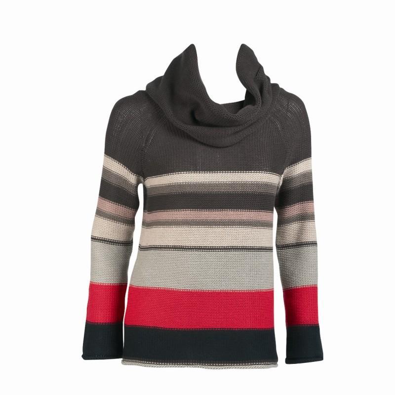 kolorowy sweter Jackpot w paski - z kolekcji jesień-zima