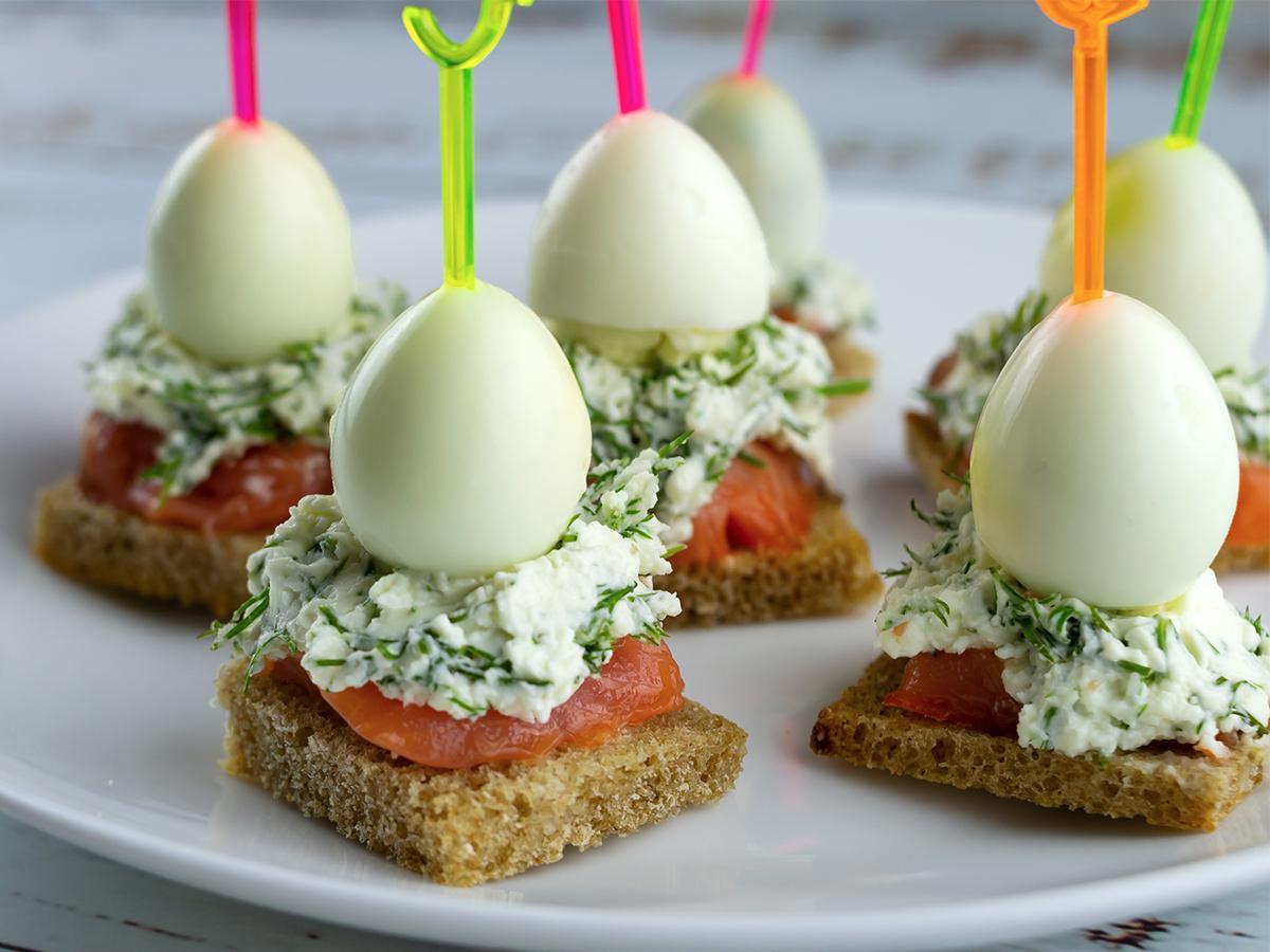 przepis na kanapki z jajkiem przepiórczym