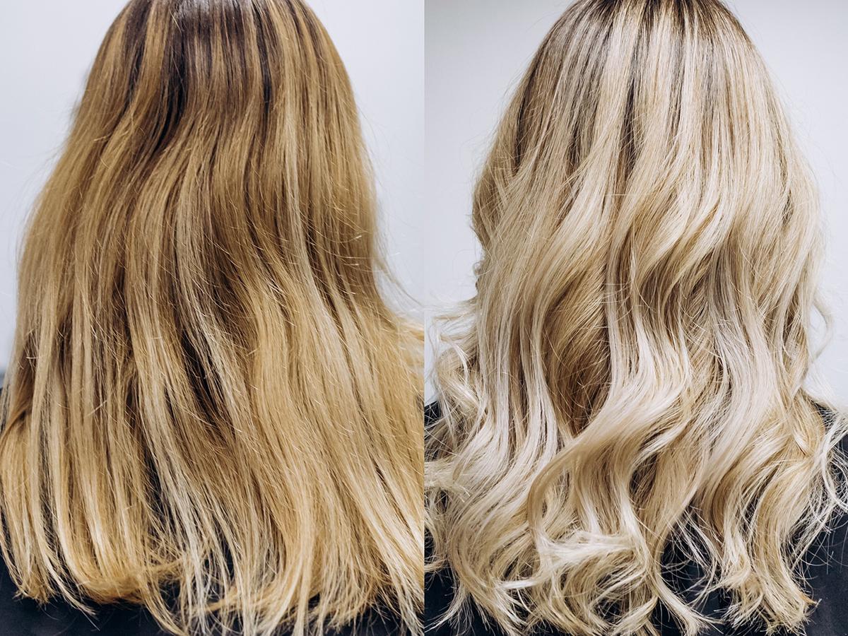 żółty blond