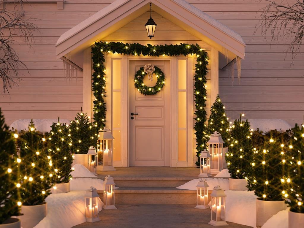 Jak udekorować wejście do domu na Święta