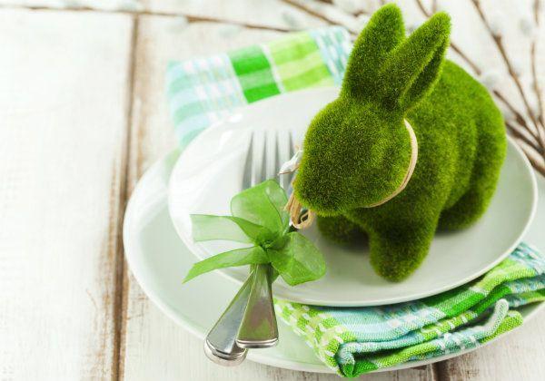 wielkanocna dekoracja talerza, dekoracja talerza na Wielkanoc
