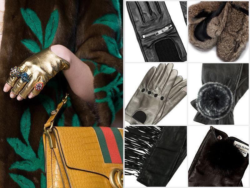 ekstrawaganckie rękawiczki