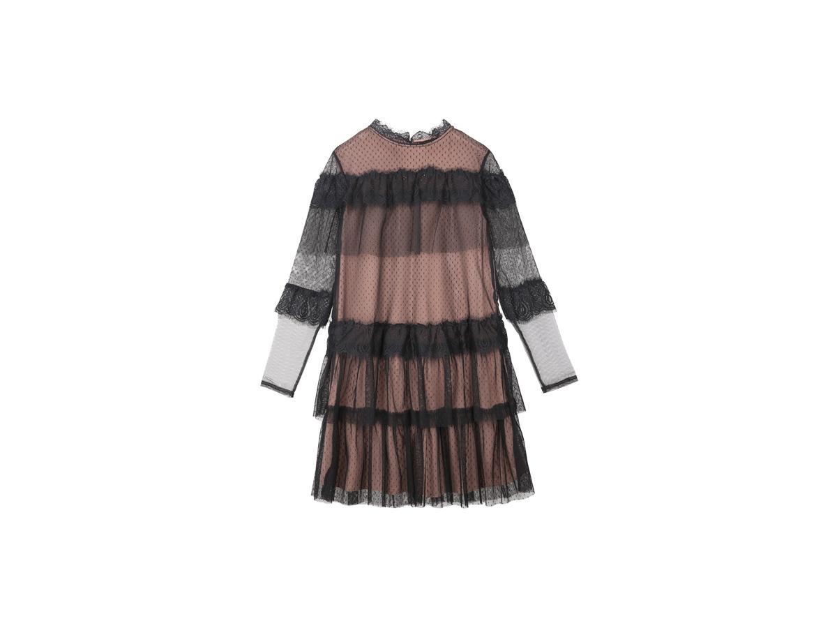 0c10fa60b7 Koronkowa sukienka z falbanami Top Secret