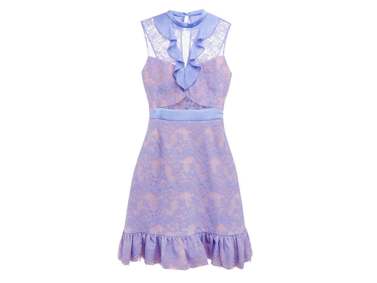 Fioletowa sukienka Three Floor, cena