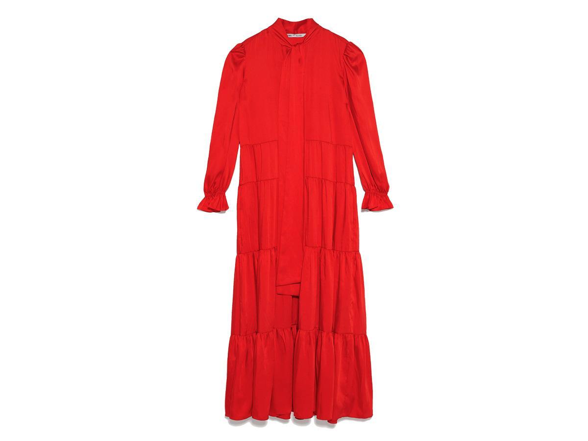 Czerwona sukienka Zara, cena