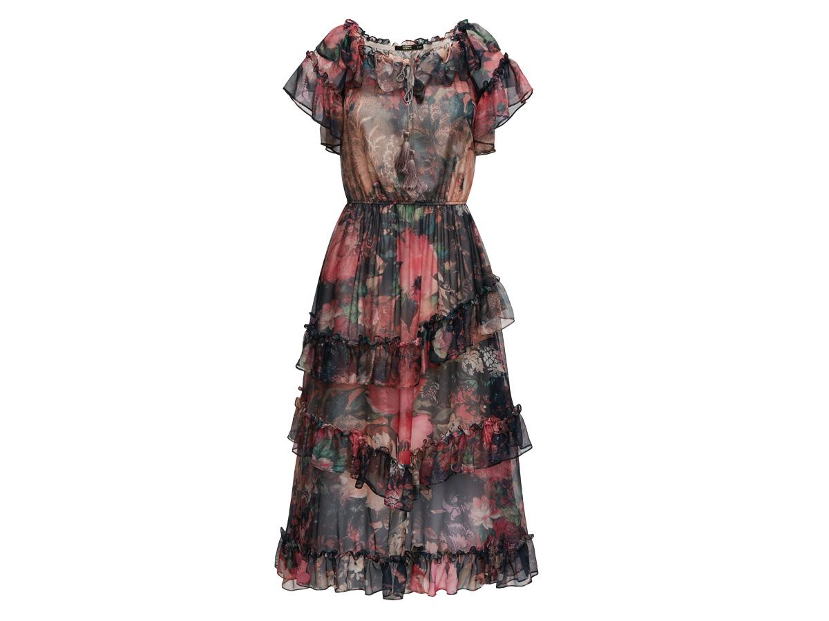 Czarna sukienka w kwiaty Taranko, cena
