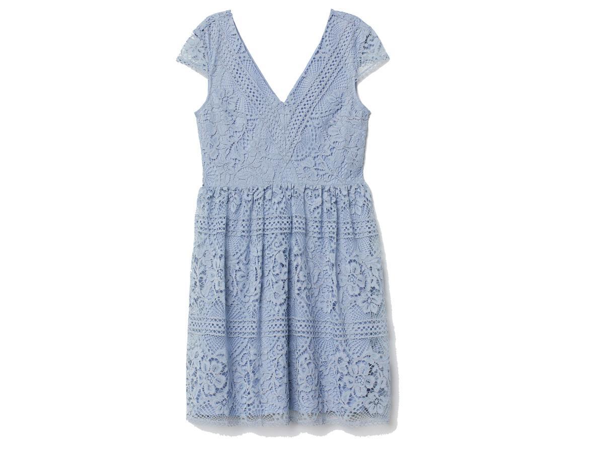 Niebieska sukienka H&M, cena