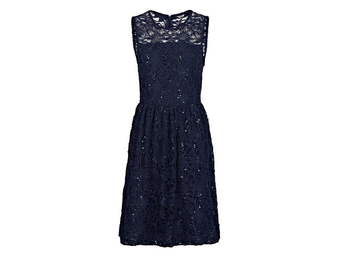 Granatowa sukienka z koronki bonprix, cena