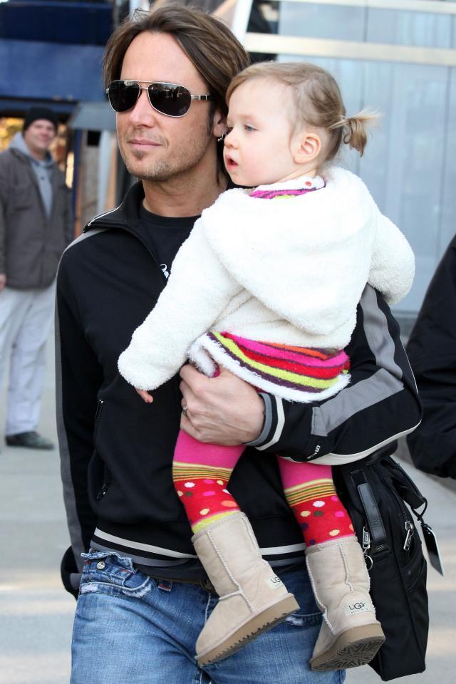 Keith Urban z córką Sunday Rose