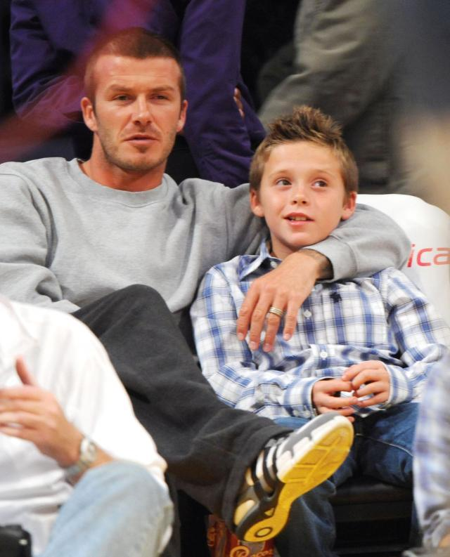David Beckham z synem Brooklynem