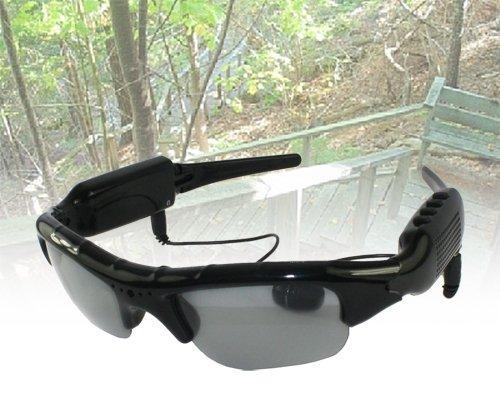 Okulary Jamesa Bonda wyposażone w cyfrową kamerę oraz aparat fotograficzny 1.3 Megapixela (1280 x 1024) i wbudowaną pamięć 2 GB, wbudowane słuchawki i odtwarzacz MP3, Ministerstwogadzetow.com, 499 zł
