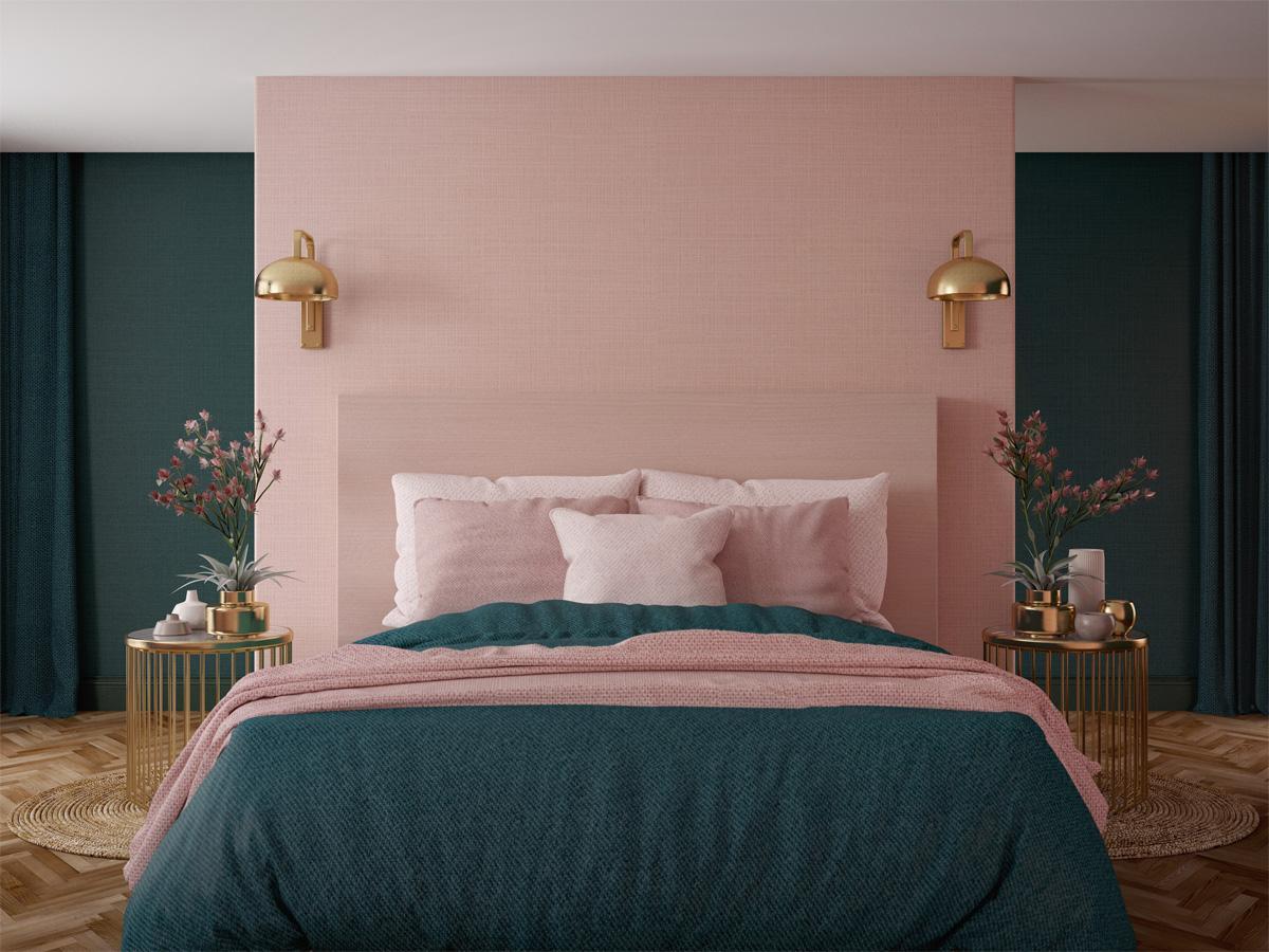 zielona sypialnia inspiracje