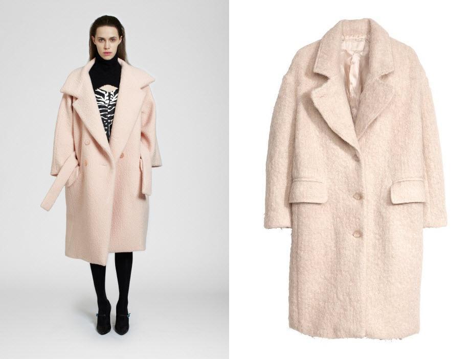 Jasnoróżowy płaszcz - trendy 2013/2014
