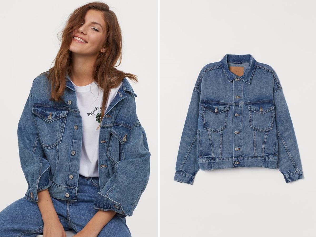 jeansowa kurtka oversize H&M
