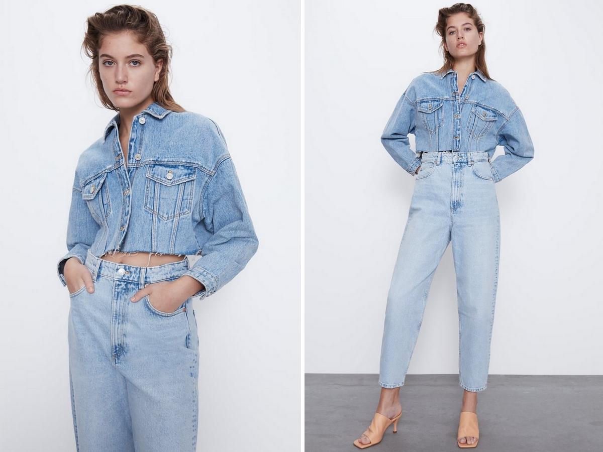 jeansowa kurtka z Zary