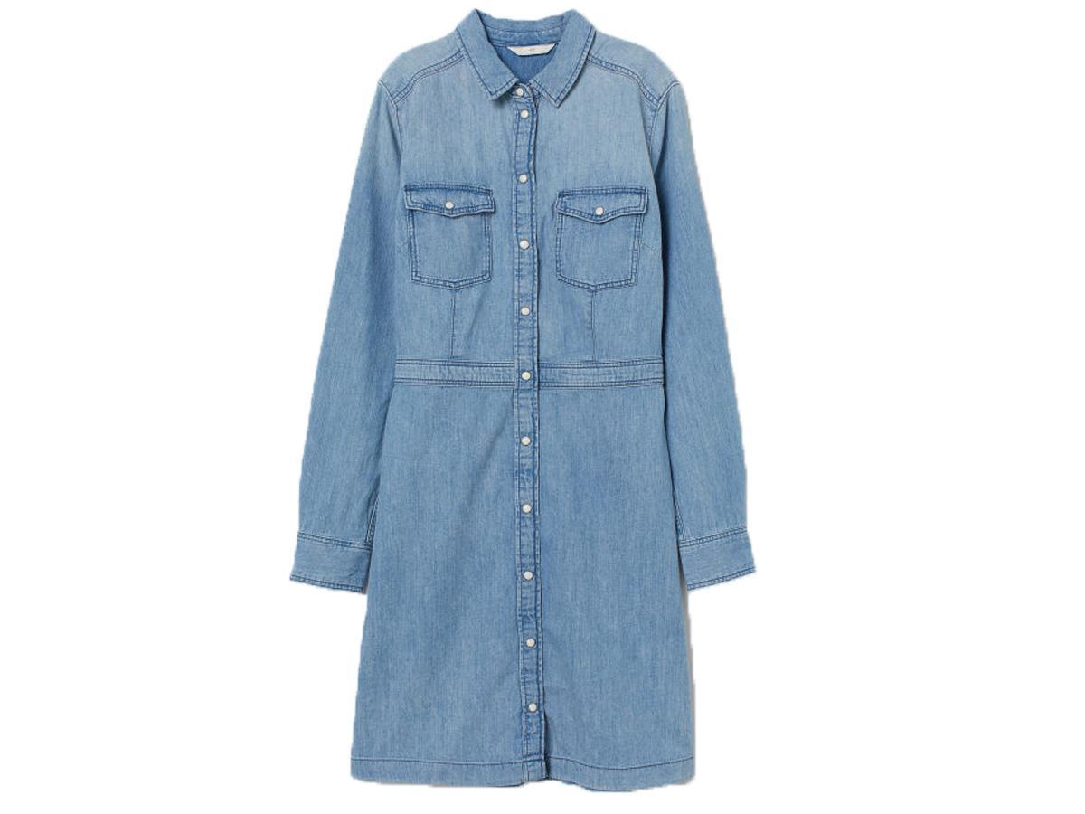 jeansowa sukienka H&M
