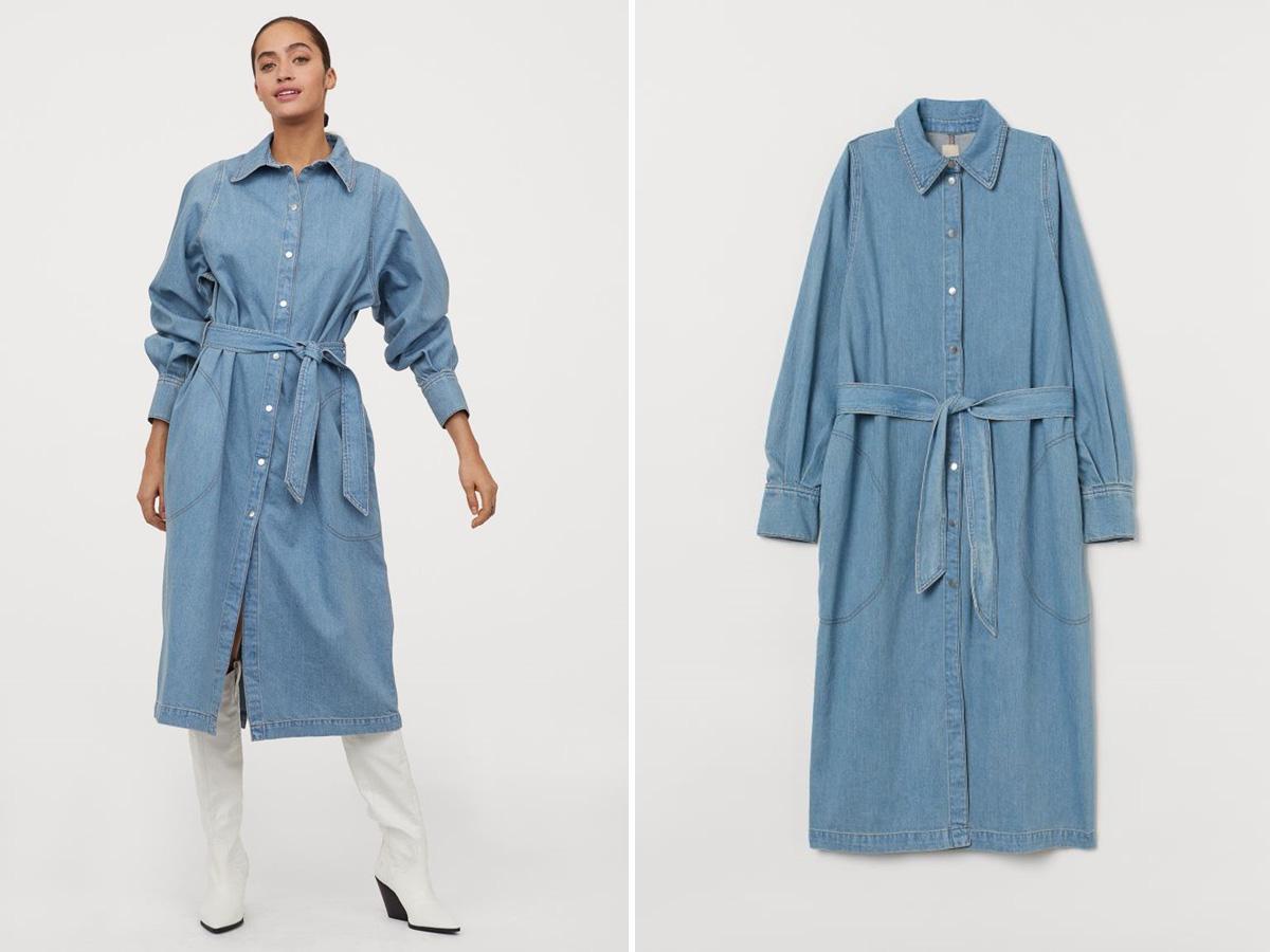 jeansowa szmizjerka H&M