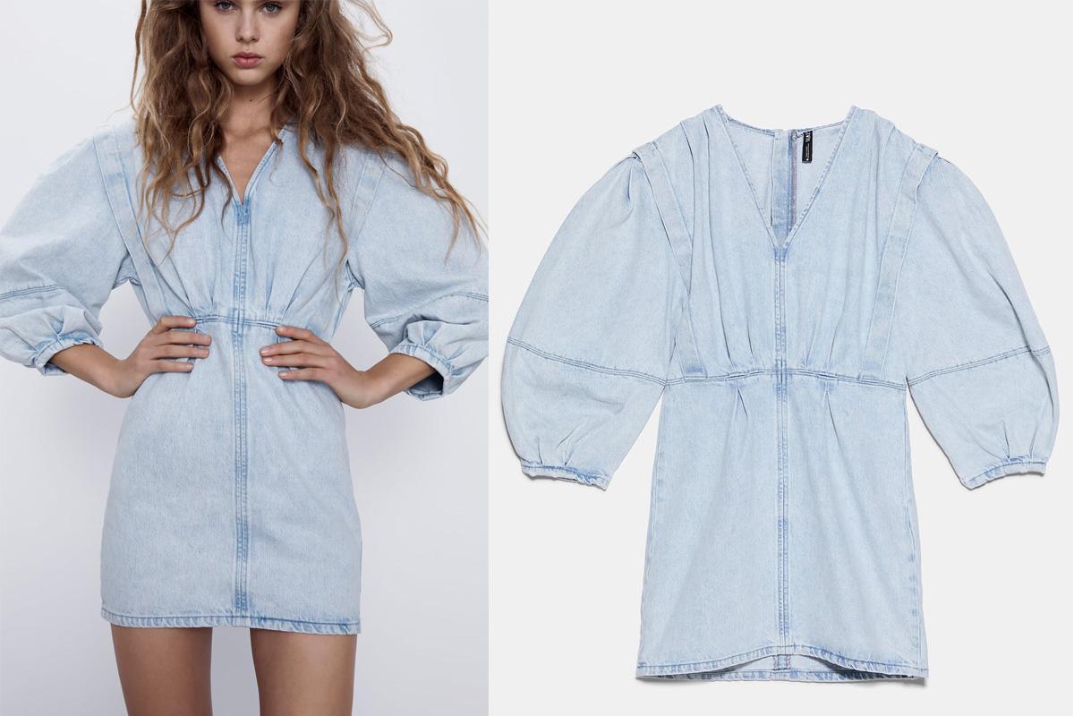 jeansowa sukienka z Zary