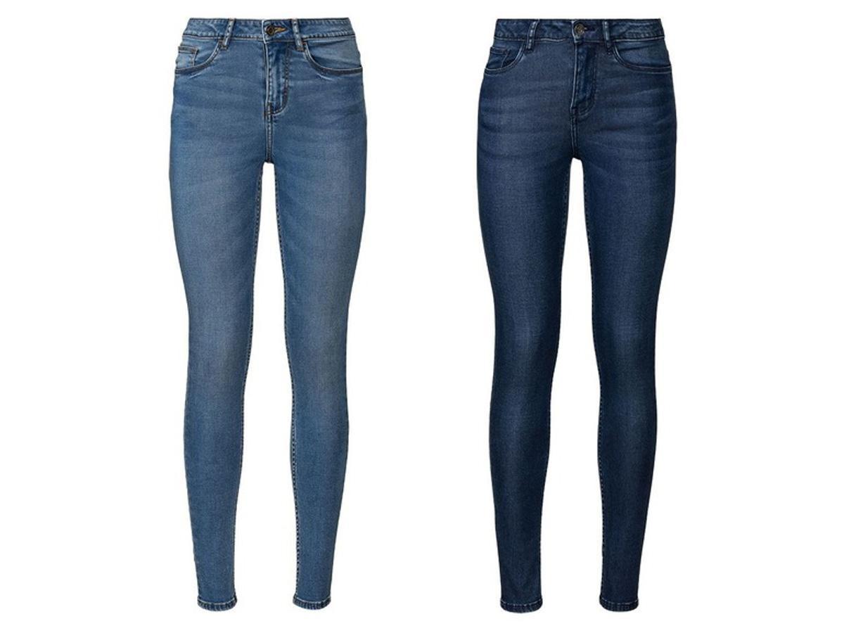 jeansy z wysokim stanem Lidl