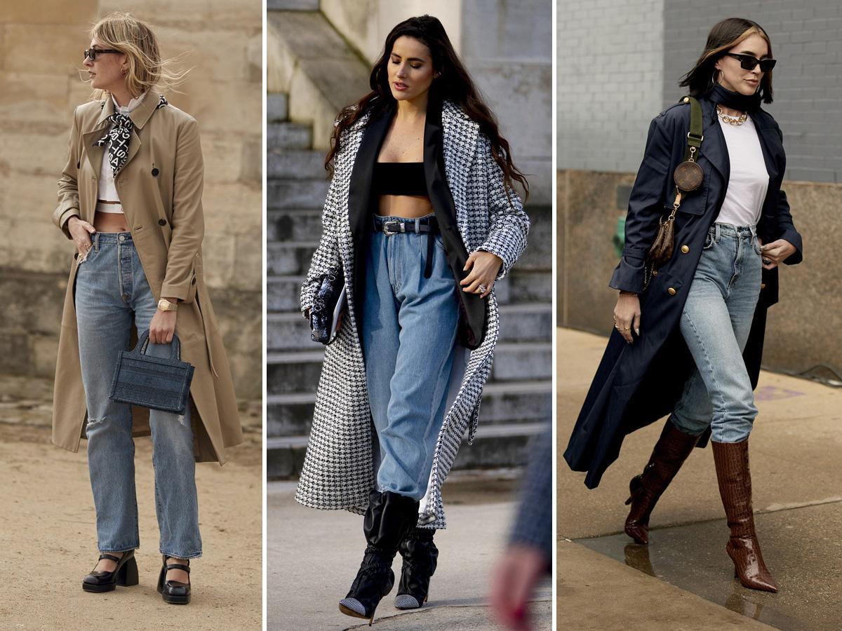 jeansy z wysokim stanem stylizacje