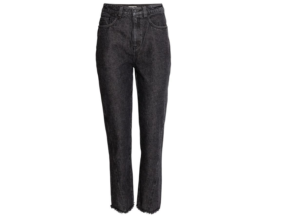 Czarne jeansy z wysokim stanem H&M