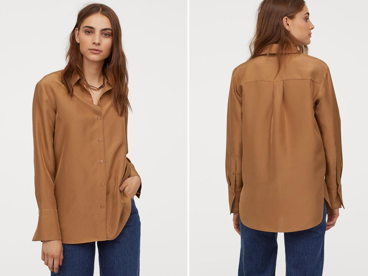 Jedwabna koszula H&M