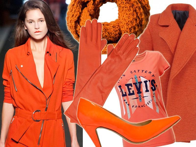 Pomarańczowe ubrania jesień 2013