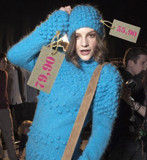 metka, kobieta, modelka, sweter, czapka