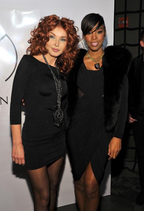 Eva Minge, Kelly Rowland - kulisy pokazu Evy Minge Ready-to-Wear