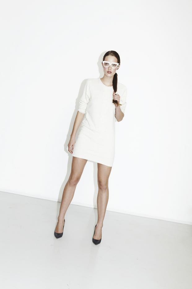 biała sukienka est by eS. - jesień-zima 2013/14