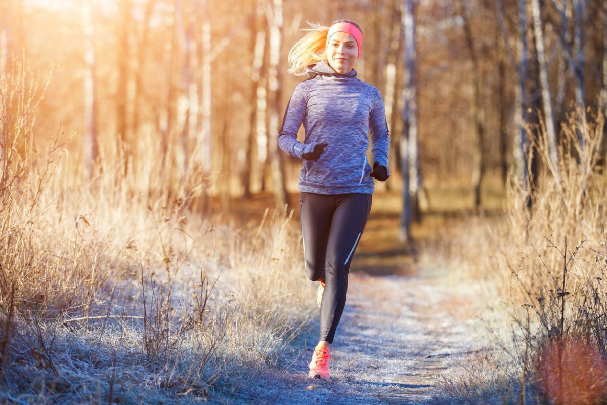 Jogging jesienią