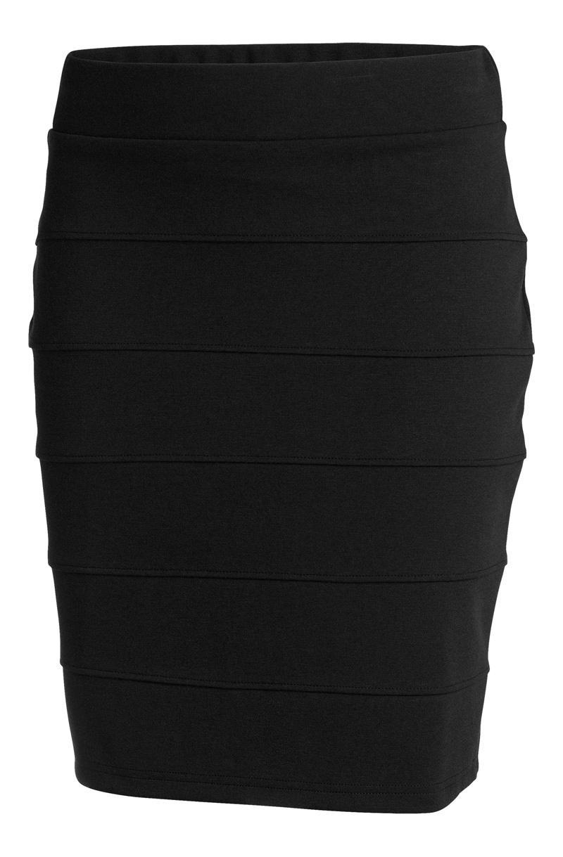 czarna spódnica KappAhl ołówkowa - z kolekcji wiosna-lato 2012
