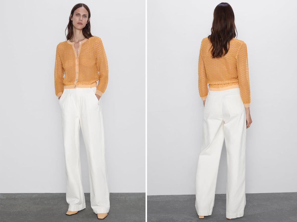 Żółty kardigan Zara