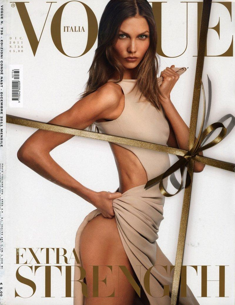 Vogue Italia grudzień 2012 - Karlie Kloss