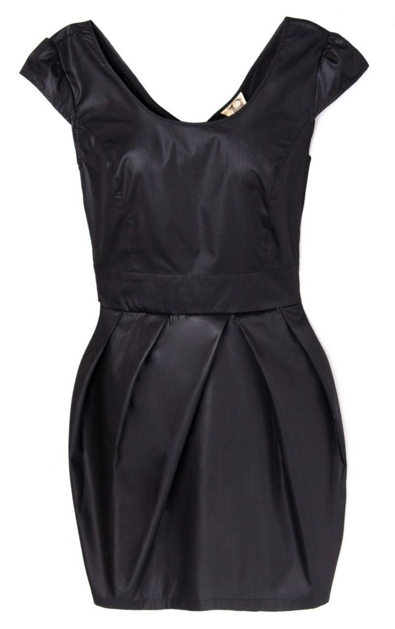czarna sukienka wieczorowa Cropp