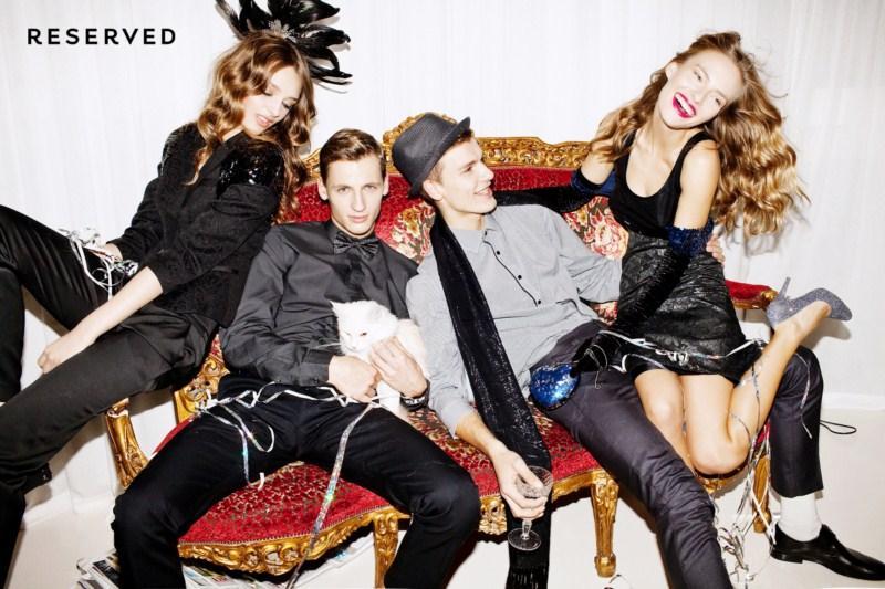 czarne spodnie Reserved - kolekcja wieczorowa
