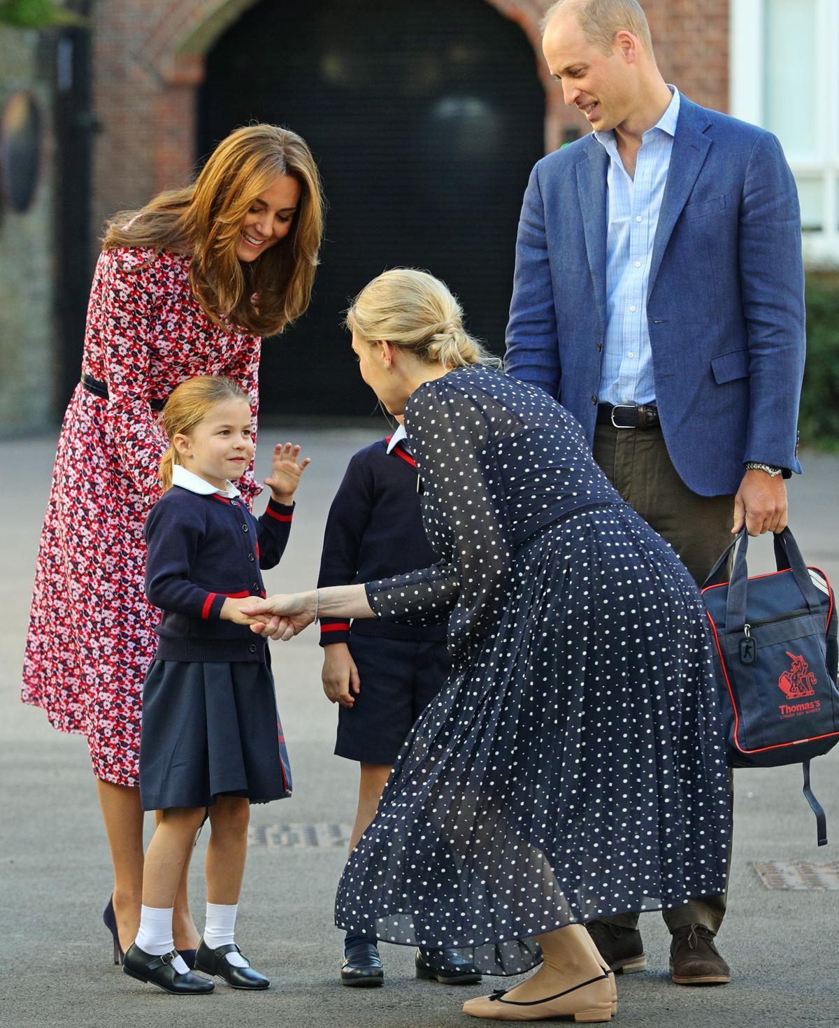 pierwszy dzień w szkole księżniczki Charlotte