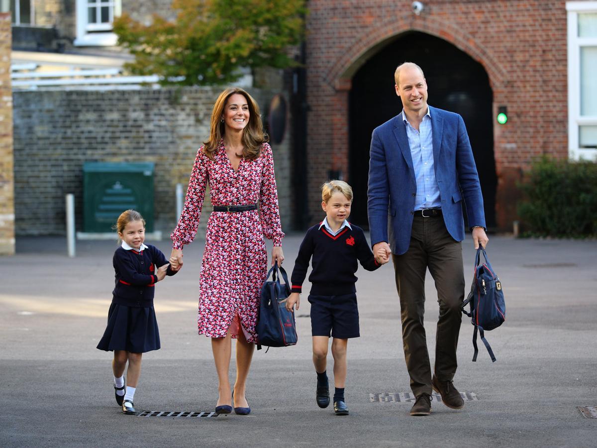 Kate Middleton i książę William odprowadzają dzieci do szkoły