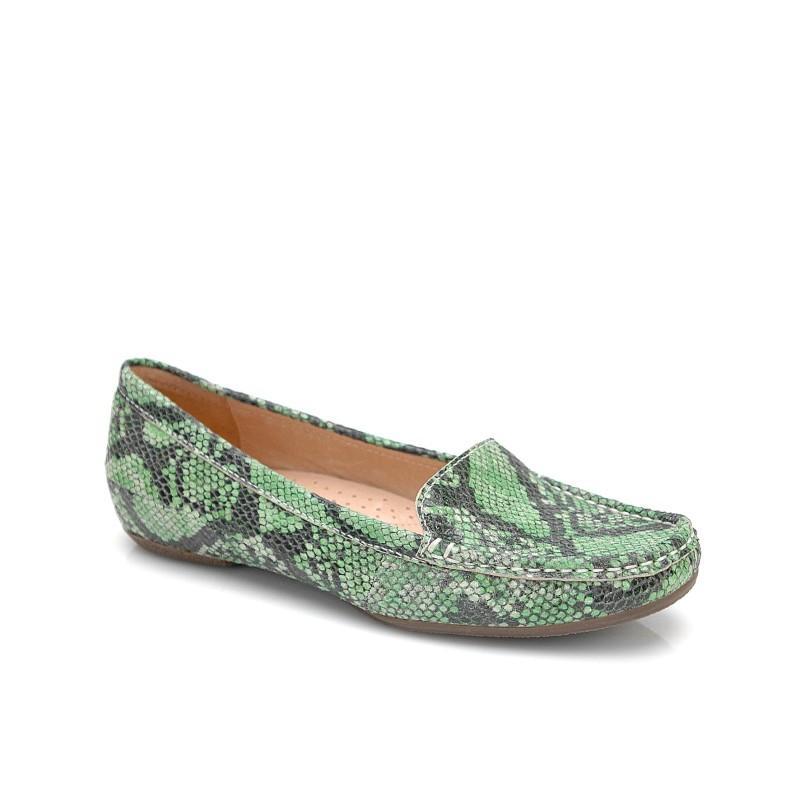 zielone mokasyny Kazar z wężowej skóry - kolekcja wiosenno/letnia