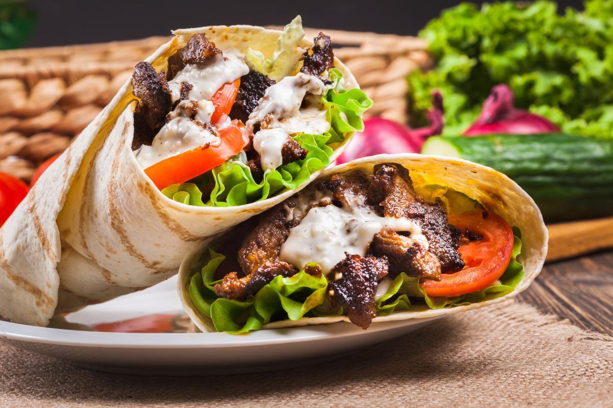 kebab w tortilli kcal