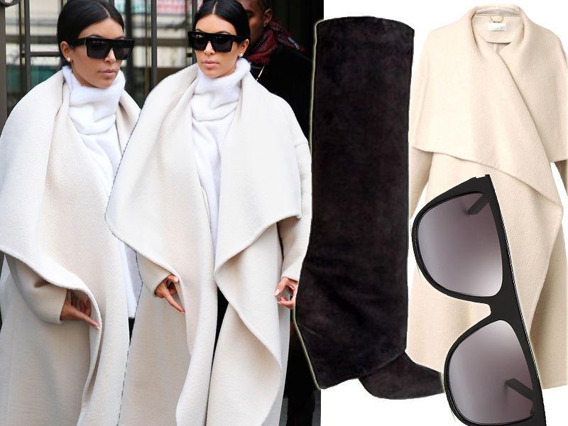 Kim Kardashian w płaszczu Chloe