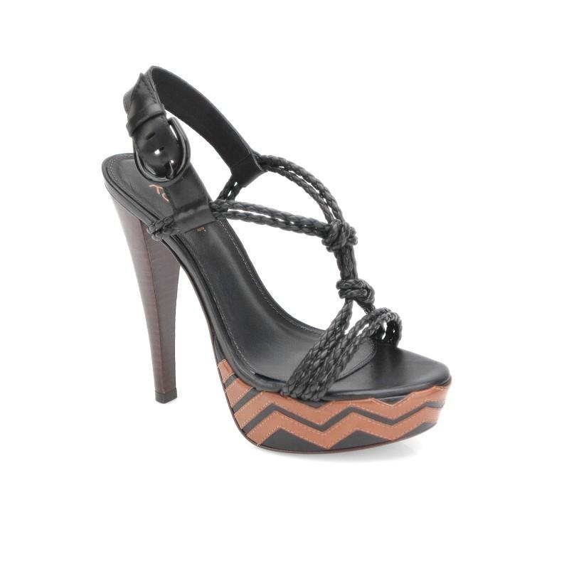 czarne sandały Kazar - z kolekcji wiosna-lato 2011
