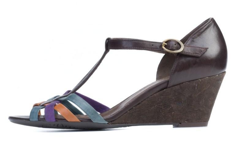 kolorowe sandałki Ryłko na koturnie - trendy wiosna-lato